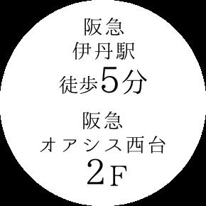 阪急伊勢丹駅徒歩5分阪急オアシス西台2F